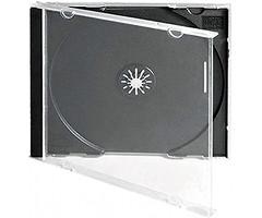 Бокс для 1-CD диска Jewel case 10 мм, чёрный трей
