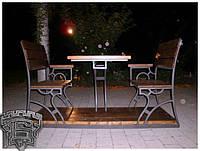 Кований стіл зі стільчиками