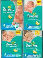 Распродажа большие пачки Pampers active baby-dry 3,4+,4, 5