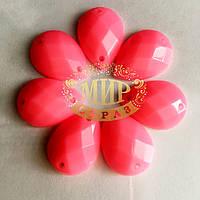 Пришивная акриловая капля Neon Rose 13х18mm*1шт
