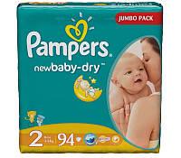 Подгузники Pampers Active Baby-Dry Midi 2 (3-6 кг) 94 шт, есть разные размеры