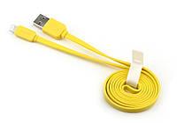 Плоский кабель для iPhone5/5S Yellow