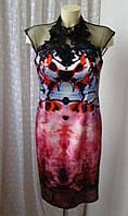Платье шикарное атласное Forever Unique р.48 6833