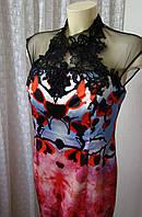 Платье шикарное атласное Forever Unique р.46 6909