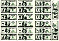 Вафельная картинка для тортов Доллары 5