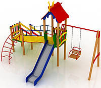 """Детский комплекс Kidigo """"Верблюжонок"""" высота горки 1,5  м"""