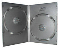 Бокс для 2 DVD дисков 7mm Black глянцевая пленка