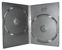 Бокс для 2 DVD дисків 7mm Black глянцева плівка