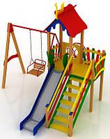 """Детский комплекс Kidigo """"Заяц"""" высота горки 1,2  м"""