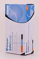 Medicom Medicom Advenced Black Перчатки нитриловые текстурированные повышенной прочности - черные, размер L, 10 шт.