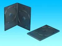 Бокс для 2 DVD дисков 9mm Black глянцевая пленка