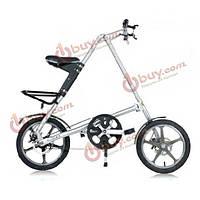 Велосипед 16 дюймов подростковый складной из алюминиевого сплава
