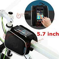 Велосипедная сумка на раму 1.8 л с креплением под телефон Roswheel