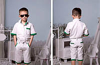 """Летний детский костюм для мальчика """"Tramp"""" рубашка и шорты"""