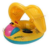 Надувная лодочка-навес для маленьких детей 1 года