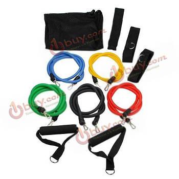 Набор элестичных эспандер-тренажеров для упражнений