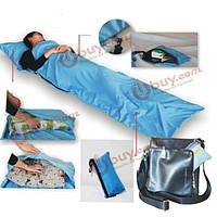 Сверхлегкие портативный одиночный спальный мешок полиэстер эпонж вкладыш мини спальный мешок для кемпинга путешествия