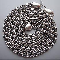 Серебряная мужская цепь, 550мм, 45 грамм, плетение Бисмарк, фото 3