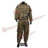 Маскировочный костюм лесной лиственной одежды напольная охота стрельба