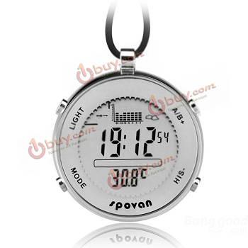 Часы спортивные карманные для рыболова водонепроницаемые Spovan