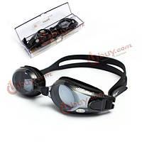 Плавательные очки для близоруких от -1.5 до - 8.0 в бассейн, на море
