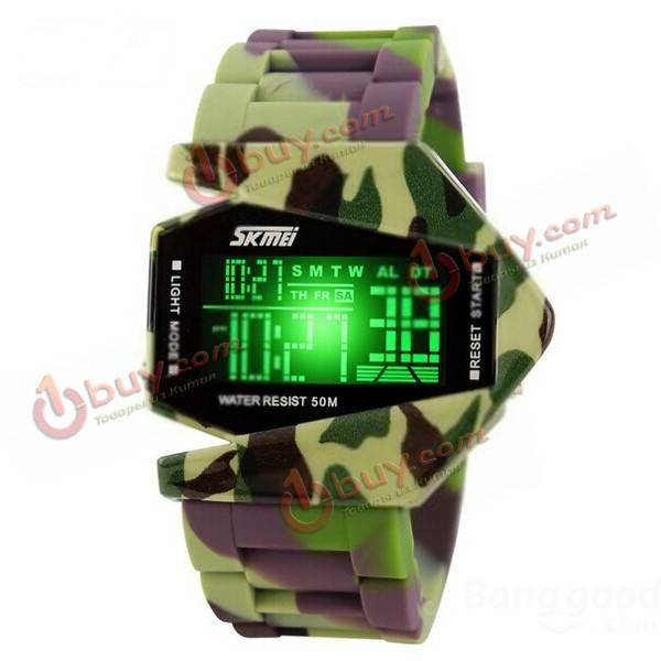 Наручные часы для водного спорта LED цифровые водонепроницаемые SKMEI