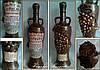 "Декор  бутылки ""Виноград"", подарочная бутылка для коньяка или вина"