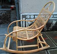 Плетеная качалка из лозы   кресло-качалка для отдыха садовая для дачи
