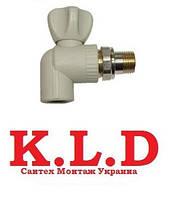 Кран Батарейный угл. 20х1/2 (K.L.D.)