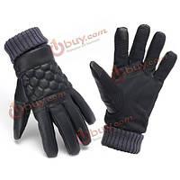 Перчатки зимние мужские сенсорные термическая кожа