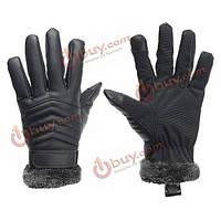 Перчатки зимние мужские черные тачскрин