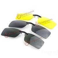 Очки-накладки без оправы поляризованные с креплением на металлическую оправу очков