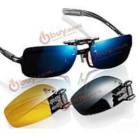 Очки клипоны поляризованные накладки на очки для водителей