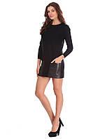 Оригинальное женское платье  черного цвета
