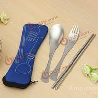 Путешествия кемпинг пикник ложки вилки палочки для еды Spork столовые приборы