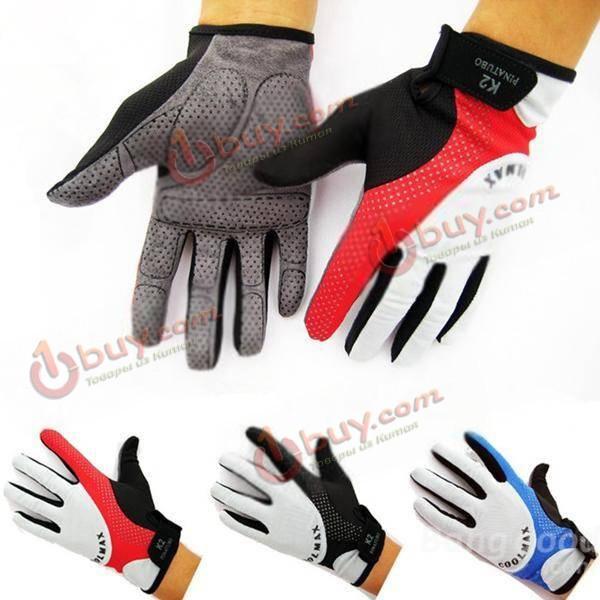 Перчатки спортивные велосипедные дышащие полный пальц