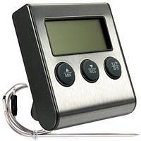 Кухонный/лабораторный термометр/таймер METAL с щупом иглой