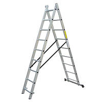 Лестница универсальная односторонняя WERK 2х8 ступени