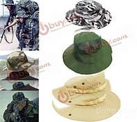 Открытый camping пешие прогулки военной солнце холст шляпа