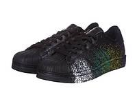 Кроссовки в стиле Adidas Superstar Supercolor Paint Black мужские