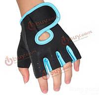 Перчатки пол пальца для гребли, тяжелой атлетики