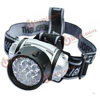 19-LED фара 19 LED шарика 4 режима налобный фонарик факел лампы