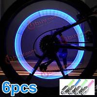6x велосипед LED колеса клапан свет лампы золотник света
