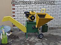 Щепорез дробилка 60 мм веток, древесных и садовых отходов передвижной бензиновый с двигателем - 6.5  л/с