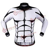 Джерси мышцы wosawe весной и осенью велосипед с отражающей полосой три кармана одежды