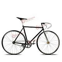 700c гоночных ретро Fixie велосипед радий хрома стальная рама неподвижный механизм фиксированной винтиком