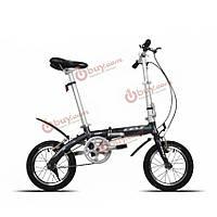14-дюймов складной велосипед легкий сплав рама мини-велосипед алюминиевый двойной v тормоз