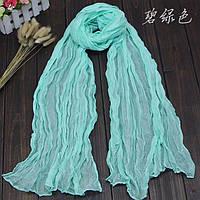 Легкий жатый шарф ментол