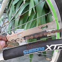 Велосипед велосипедная цепь измерения правитель цепь инструмент замена цепи ленты на велосипеде