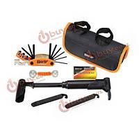 Велосипед ремонт шин инструменты комплект для ремонта велосипеда комплект 13 в 1 складной инструмент с патчами инструментария подушек без